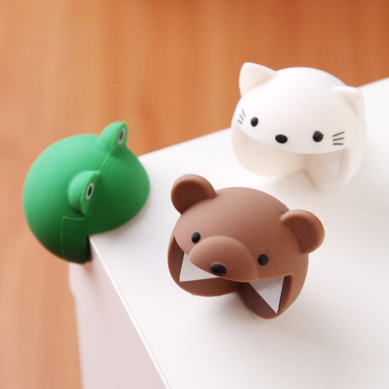 En tres dimensiones en forma de Animal de protectores de esquina decorativa y adorable mesas de café esquina 4 Uds La Rana/gato/cojín