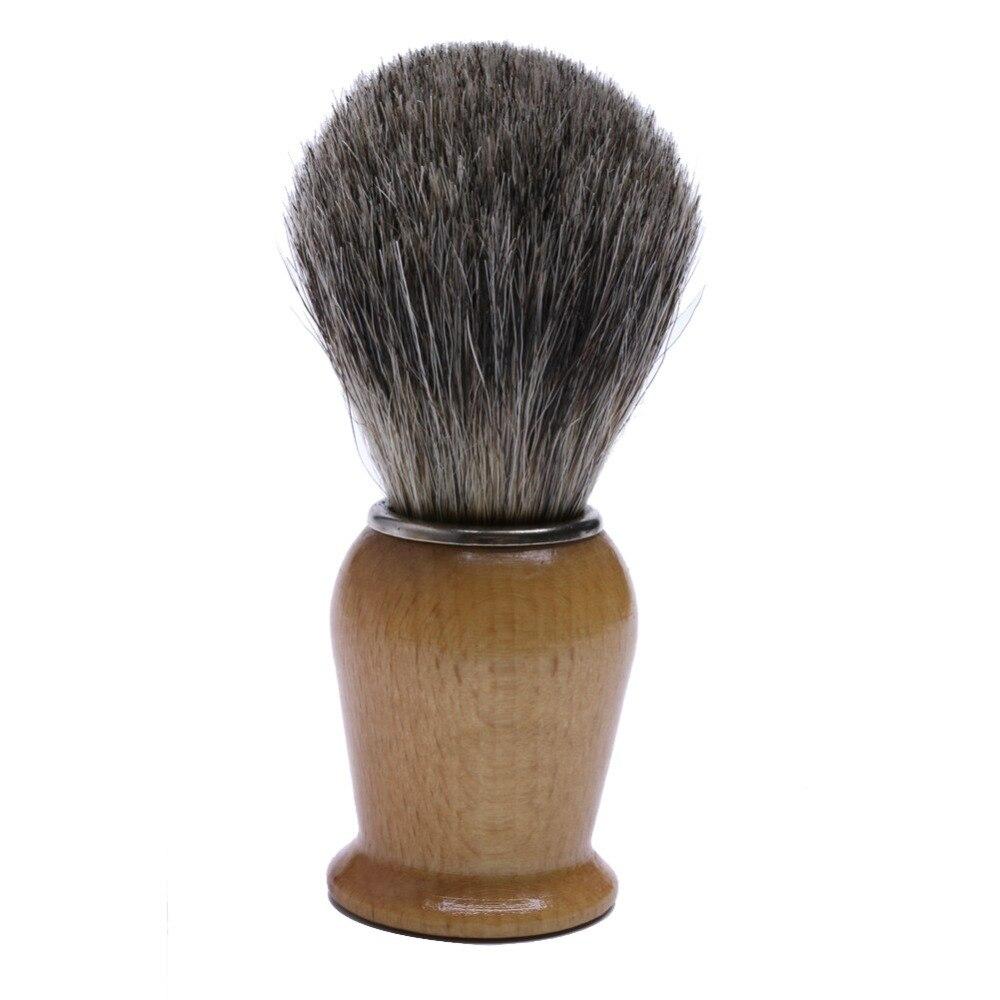 Щетка для влажного бритья с деревянной ручкой для мужчин