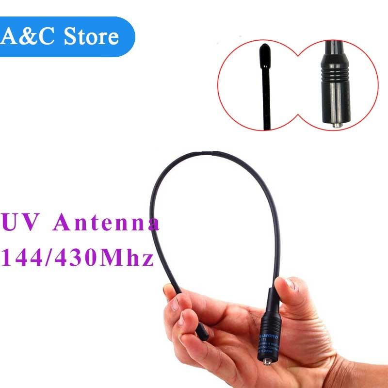 Двухдиапазонная антенна SMA-Female, 10 Вт, 144 МГц, 430 МГц, с высоким коэффициентом усиления, для ручного радио, Baofeng, NA-771, UV-5R, UV-82, 20 шт./лот