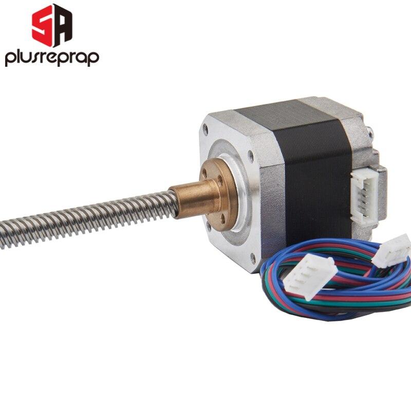 Motor paso a paso NEMA17 40mm paso de varilla de tornillo Motor T8 Paso 2mm 8mm tornillo lineal envío gratis 3D piezas de la impresora