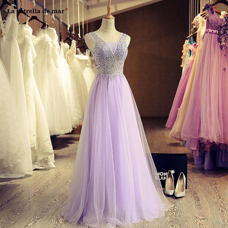 Vestido de dama de honor con tul de cristal, sexy, corte en...