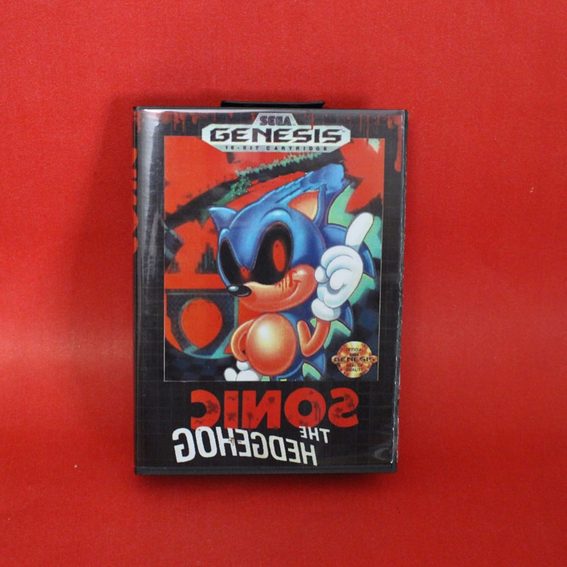Phantom Sonic tarjeta MD de 16 bits con caja de venta al por menor para el sistema de consola de videojuegos Sega megadive