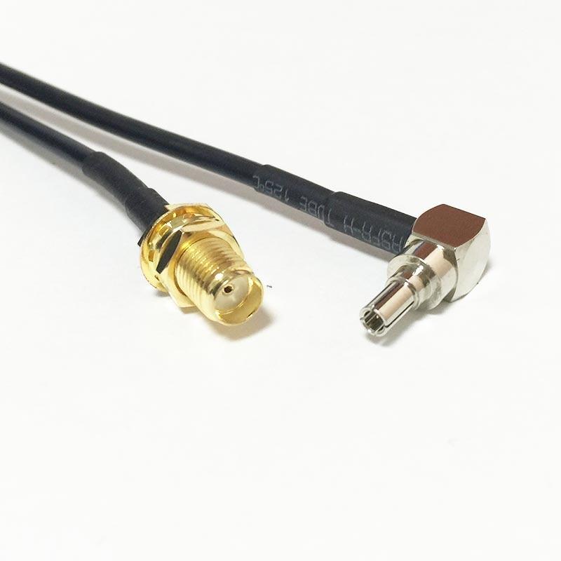 Новинка, адаптер для розетки, гнездовой разъем, разъем под прямым углом CRC9, кабель RG174, адаптер 20 см, 8 дюймов