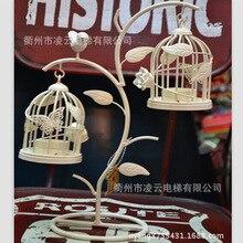 European retro Markor rural countryside creative personality wrought iron bird cage candle cup desktop decoration ornaments