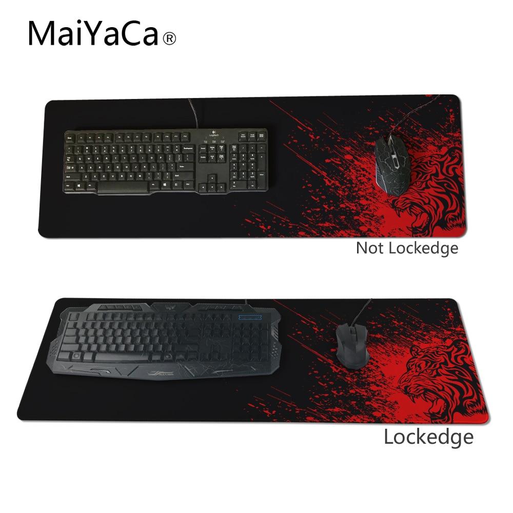 Коврик для мыши MaiYaCa Tiger Head с блокировкой края 900x400 коврик для мыши Tiger для csgo/league of legends/dota/lol игровой коврик для мыши