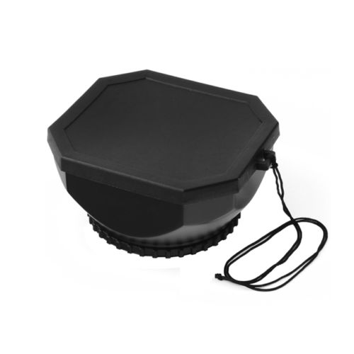 58mm Screw Mount DV Lens Hood + Cap For Digital Video Camera Camcorder Universal