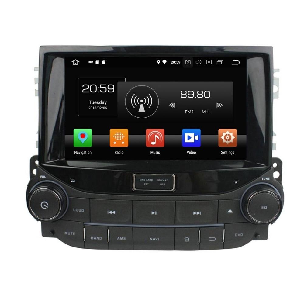 "2 din 8 ""Android 8,0 Car Stereo DVD Radio GPS Multimedia para Chevrolet Malibú 2015 4GB de RAM Bluetooth WIFI USB espejo-enlace"