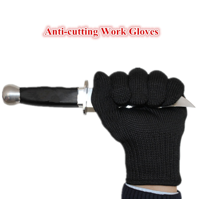Metal Mesh Stainless Steel Wire Hand Protect Breathable Safety Anti-cutting Work Gloves Workplace Security Supplies guantes