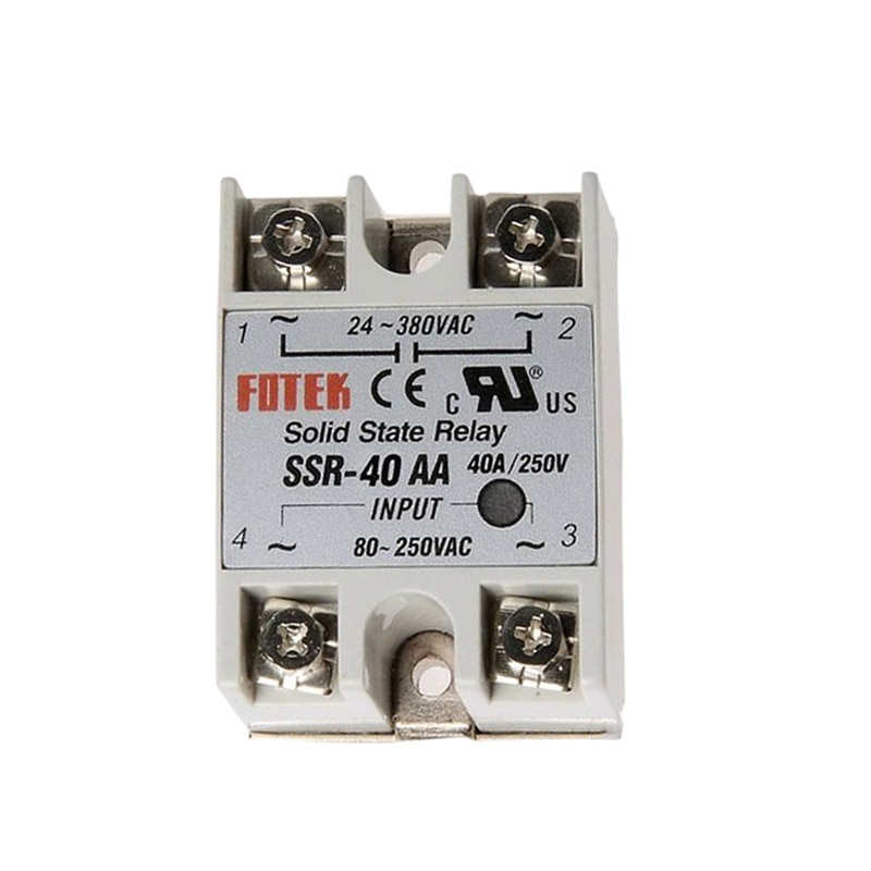 50 قطعة/الوحدة SSR-40AA 40A تتابع الحالة الصلبة AC التحكم AC-AC تتابع الحالة الصلبة