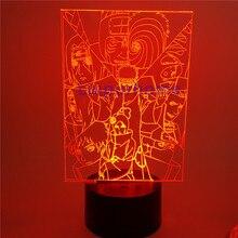 Naruto led light Akatsuki 3d Led Acrylic Lights Anime Naruto Shippuden Pain Itachi cartoon night light led light christmas gift