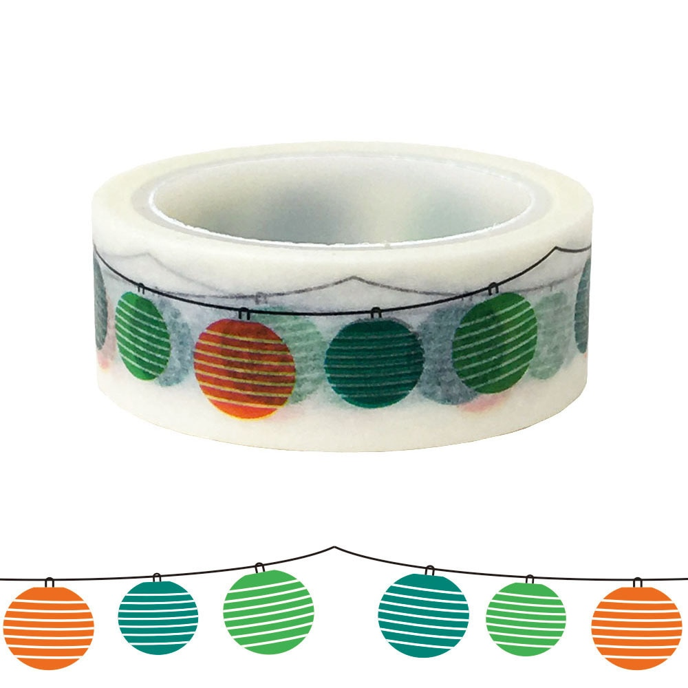 20pc/set Holiday Balloon Lantern Gift Packaging DIY Beautification and Paper Washi Tape for Holidays