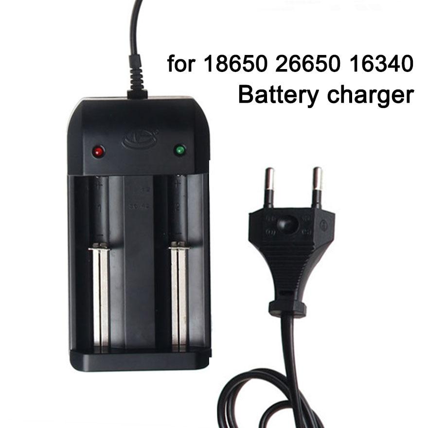 1 cargador de batería Universal Dual 18650 para 26650 16340 14500 cargador de batería de iones de litio recargable de 3,7 V fuente de alimentación base de carga