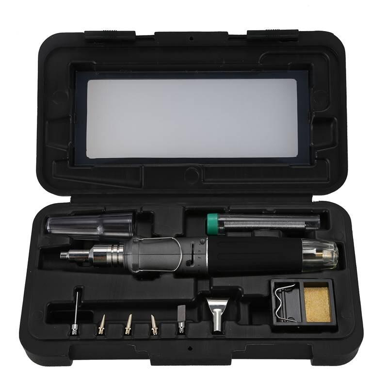 10 в 1 комплект бутанового паяльника с автоматическим зажиганием, сварочный факел, набор инструментов, Электрический паяльный набор, Газовый паяльник, ручка-серый