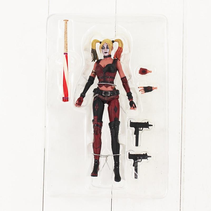 18 cm Harley Quinn Action Figur Spielzeug Suicide Squad Harley Quinn Mit Baseball Bat Gun Waffe Sammeln Modell Puppe