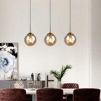 New Modern Glass Pendant Lighting Fixture Hanglamp Designer Loft Style Retro Kitchen Lamp Metal Industrial Lighting Bedroom Bar
