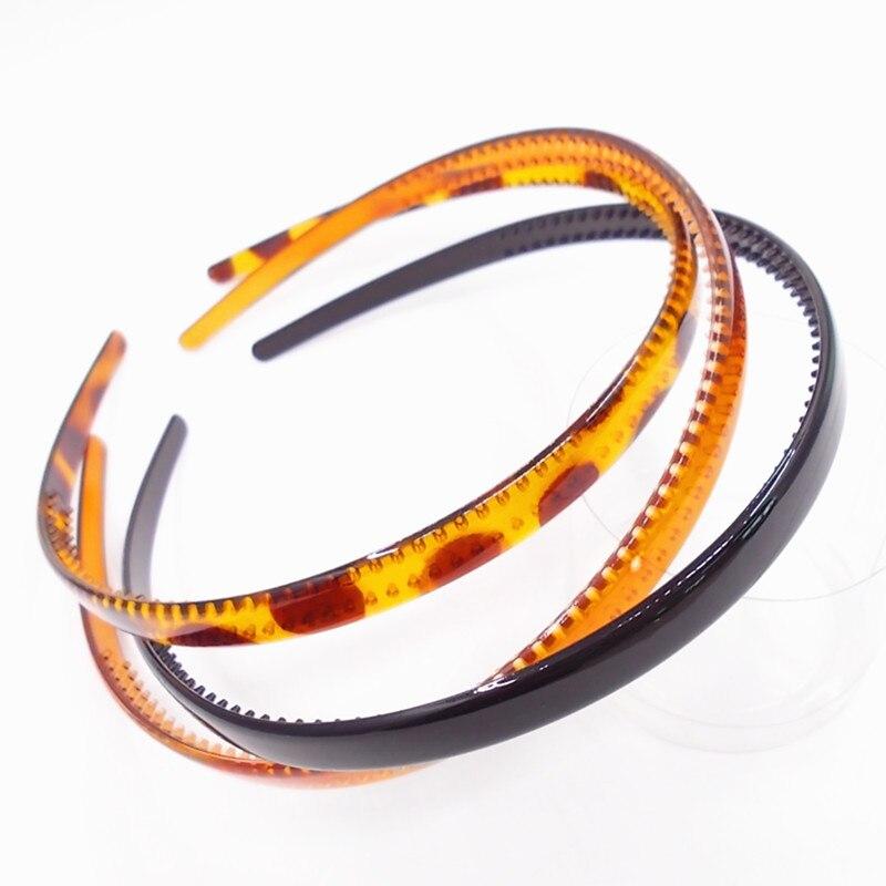 Frete grátis preto moda simples senhora plástico faixa de cabelo headbands dentes headwear menina cabelo diy ferramenta acessórios cabeça hoop