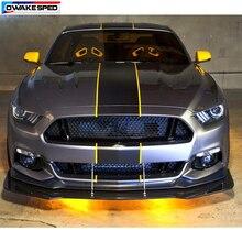 Autocollants en vinyle de ligne de course Ford Mustang GT   Autocollant de décor de queue de toit de capot de voiture, autocollants personnalisés pour le corps de la voiture