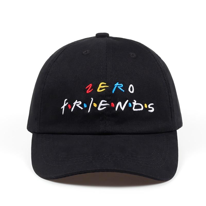 high quality Women Men cotton Zero Friends Hip Hop Baseball Cap Soft Cool Black white Dad Hat for Men Women golf cap hats