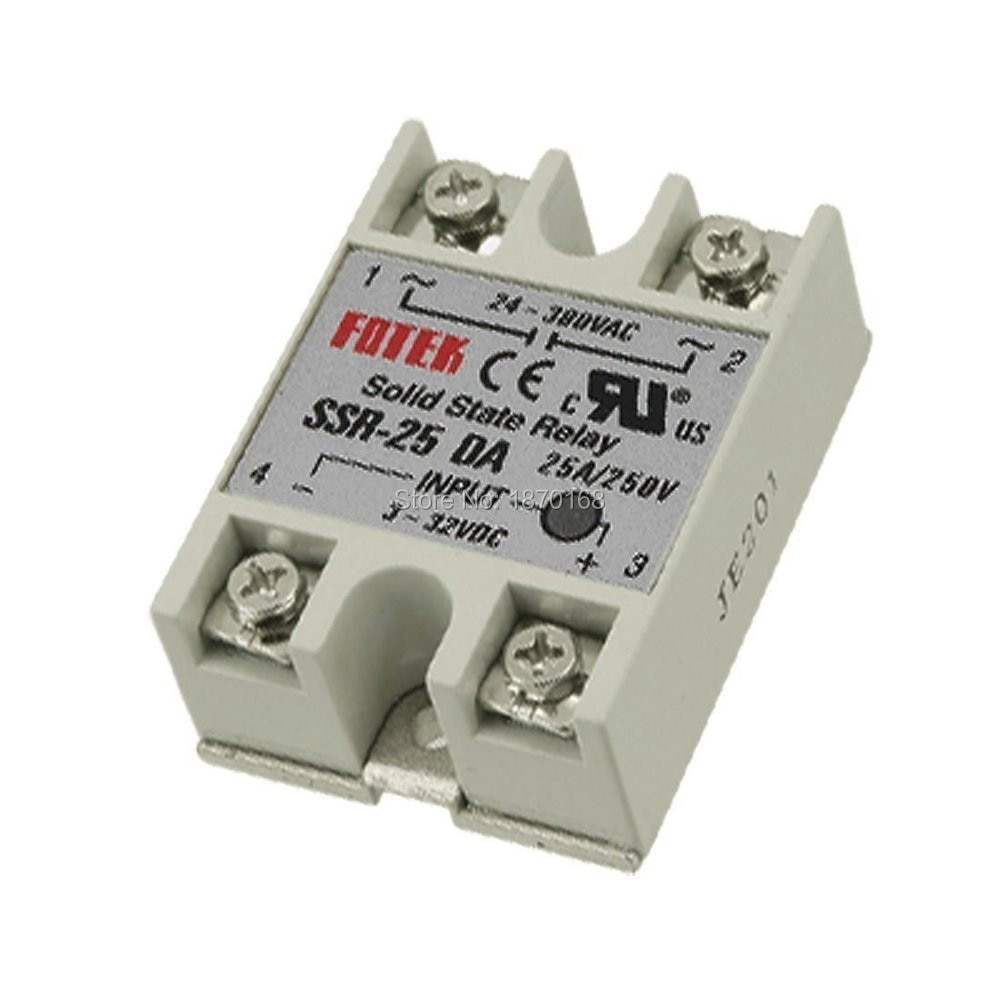 1 pcs SSR-25DA 25A 3-32V DC TO 24-380V AC SSR 25DA Solid State Relay Plastic Cover Case Factory Directly Wholesale SSR-25 DA Hot