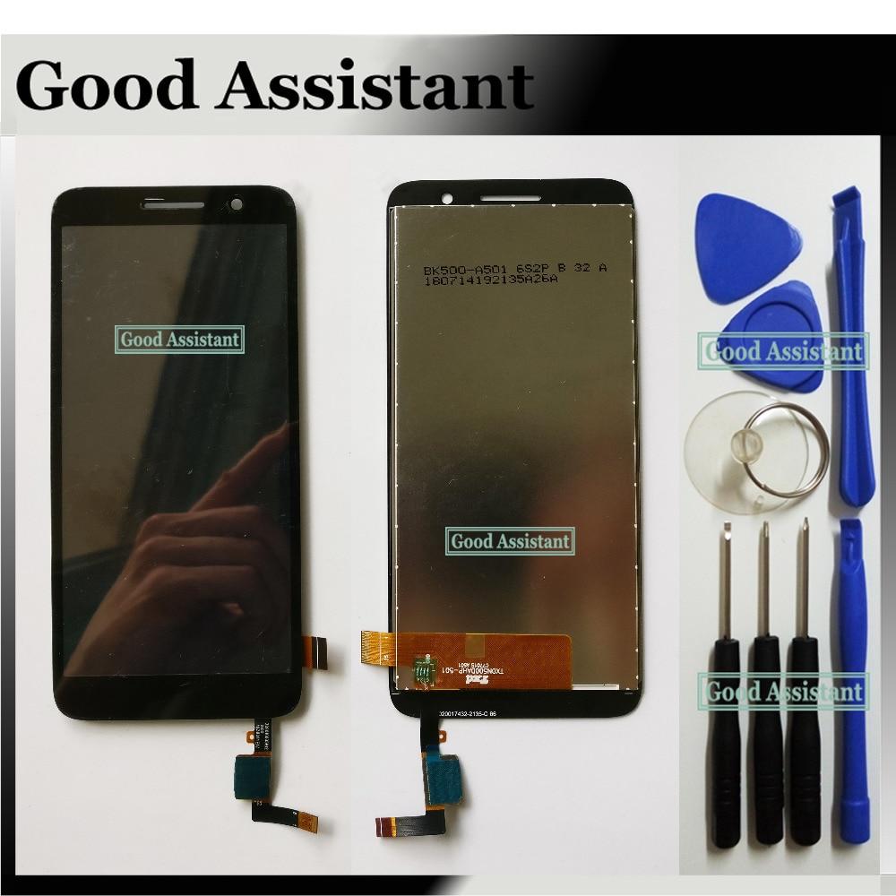 Negro/Blanco 4,9 pulgadas para Alcatel 1 5033 5033A 5033J 5033X 5033D 5033 T pantalla LCD + pantalla táctil herramientas libres de montaje de digitalizador