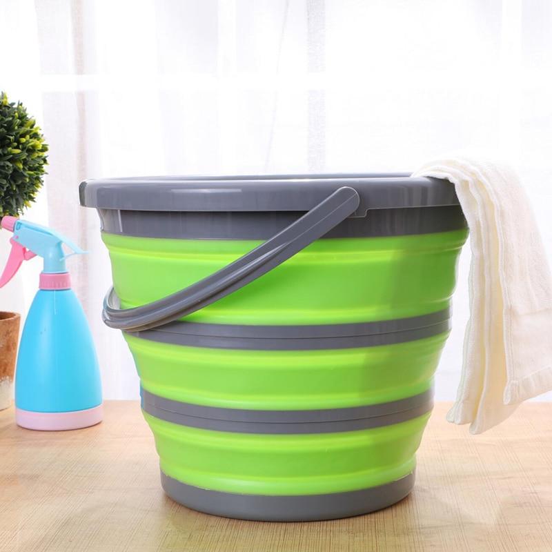 10L cubo plegable baño plegable portátil redondo cubeta para lavar autos portátil Camping luz peso apto para pesca senderismo