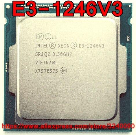 Processador intel, cpu xeon E3-1246V3 3.50ghz 8m 84w quad-core e3 1246v3 lga1150 frete grátis e3 1246 v3 E3-1246 v3