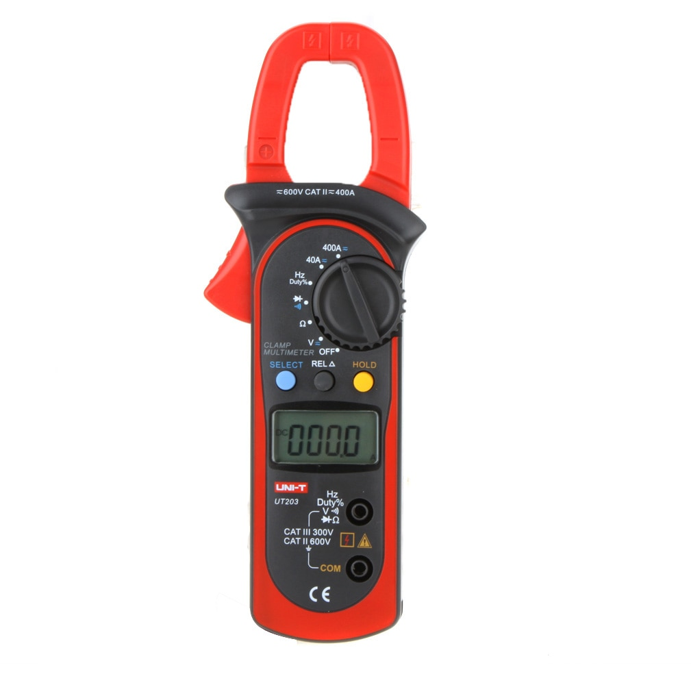 مقياس التيار الكهربائي UT203 ، مقياس التيار الكهربائي ، الفولتميتر ، AC/DC ، كماشة التيار ، مقياس رقمي متعدد ESR ، مقاومة التردد ، اختبار الجهد