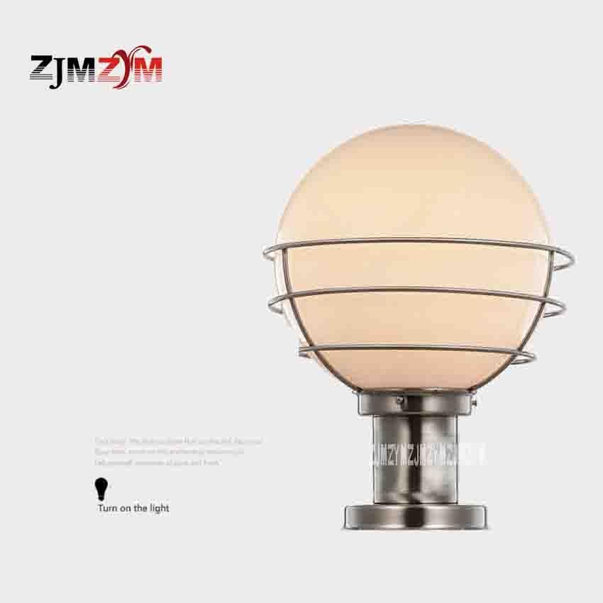 DL-0101 Outdoor Waterproof Pillar Lamp Classic Round Ball Lamp Gate Lights Stainless Steel Stigma Lamp Diameter 250mm Hot Sale