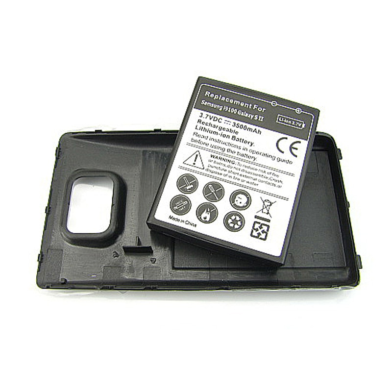 Extended Thicker 3500mAh Replacement Battery For Samsung Galaxy S2 SII i9100 Battery with Back Cover Case for Galaxy S2 i9100 enlarge
