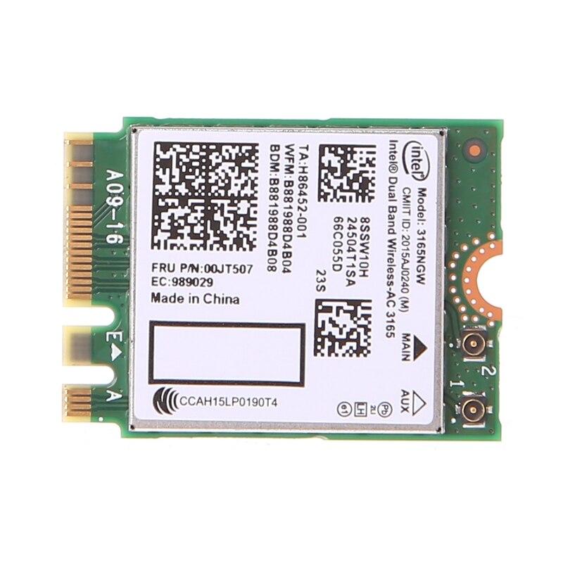Doble banda Bluetooth inalámbrico-AC 3165 BT4.0 2,4G/5G 433M NGFF NGW tarjeta de red