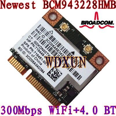Broadcom Dw1530 Bcm943228hm4l 300 m Portable Sans Fil N Mini Pcie Demi Wifi Carte Pour Dell 300 mbps 802.11 abgn Interne Module