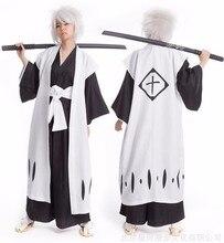 Anime Bleach przebranie na karnawał Kyouraku Shunsui Kenpachi Zaraki biały płaszcz płaszcz kapitan płaszcz nie czarny Kimono