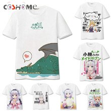 Футболка Coshome Kobayashi-san Chi No Maid Dragon Maid, канна Камуи Тору, костюм для косплея, футболка для мужчин и женщин, топ с коротким рукавом