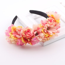 Accessoires pour cheveux couronne en halo   Accessoires capillaires pour femmes filles, couronne à fleurs pour fête mariage, bandes de cheveux