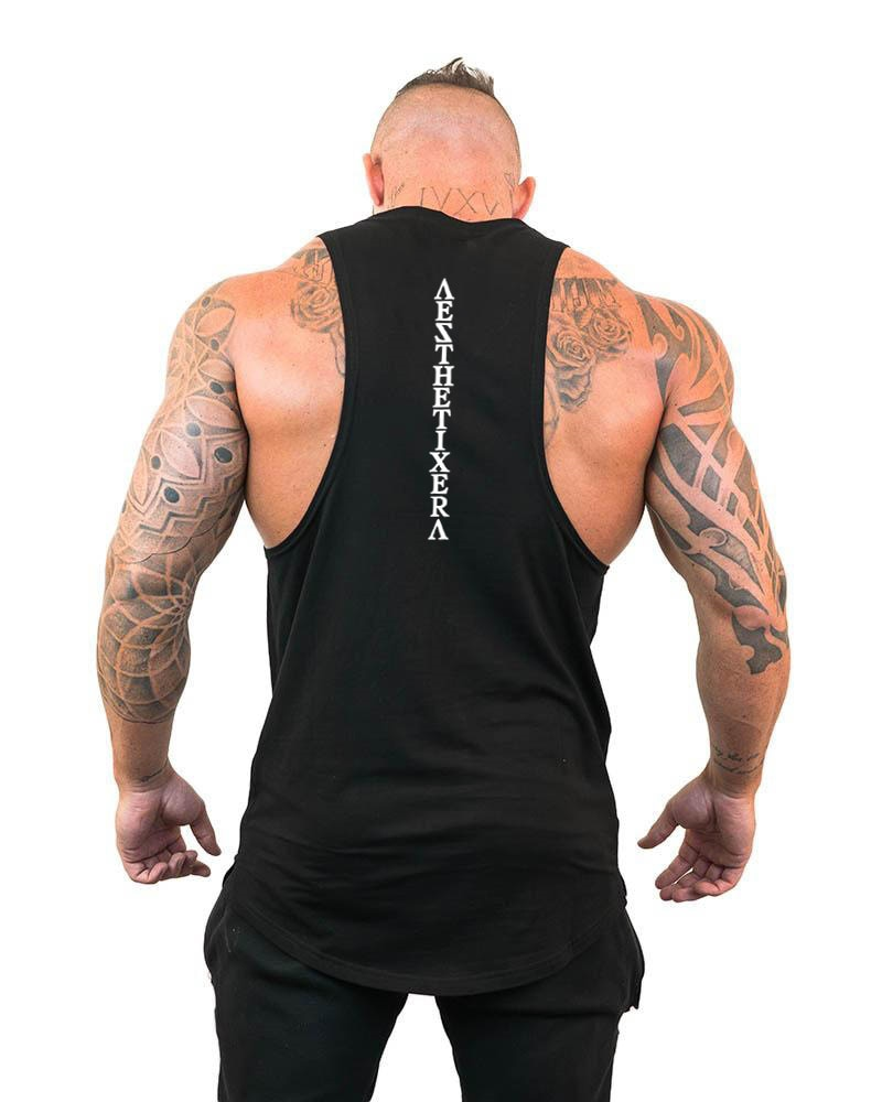 Marca de roupas ginásios tanque topos homem canotta bodybuilder tanque top treino singlet fitness stringer tanktop muscular sem mangas camisa