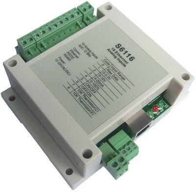 وحدة شبكة إدخال تناظرية 12 بت 16 قناة ووحدة الحصول على بيانات إيثرنت