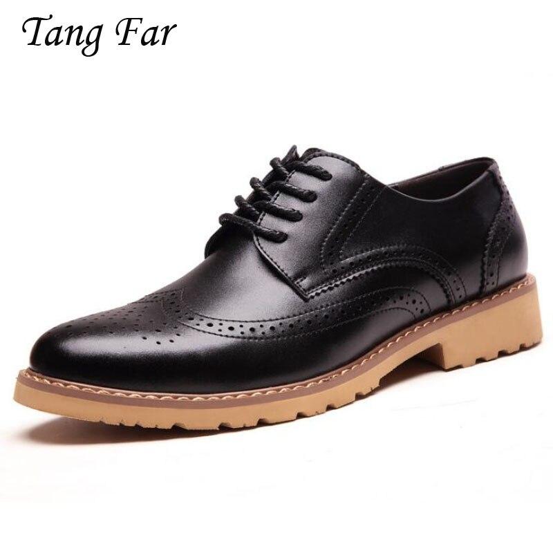 Moda Oxford hombres de negocios zapatos hechos a mano Vintage transpirable Oxfords...