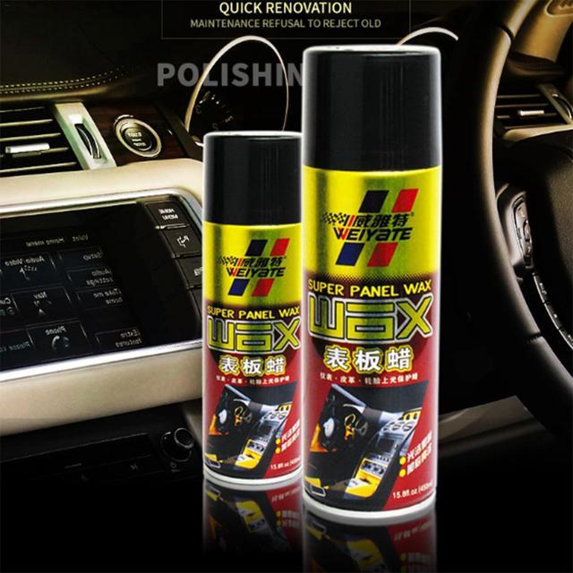 450ML Car Wax Auto Interior Restorer Dashboard Leather Trim Seat Glossing Maintenance Dust Removal Washing Detergent