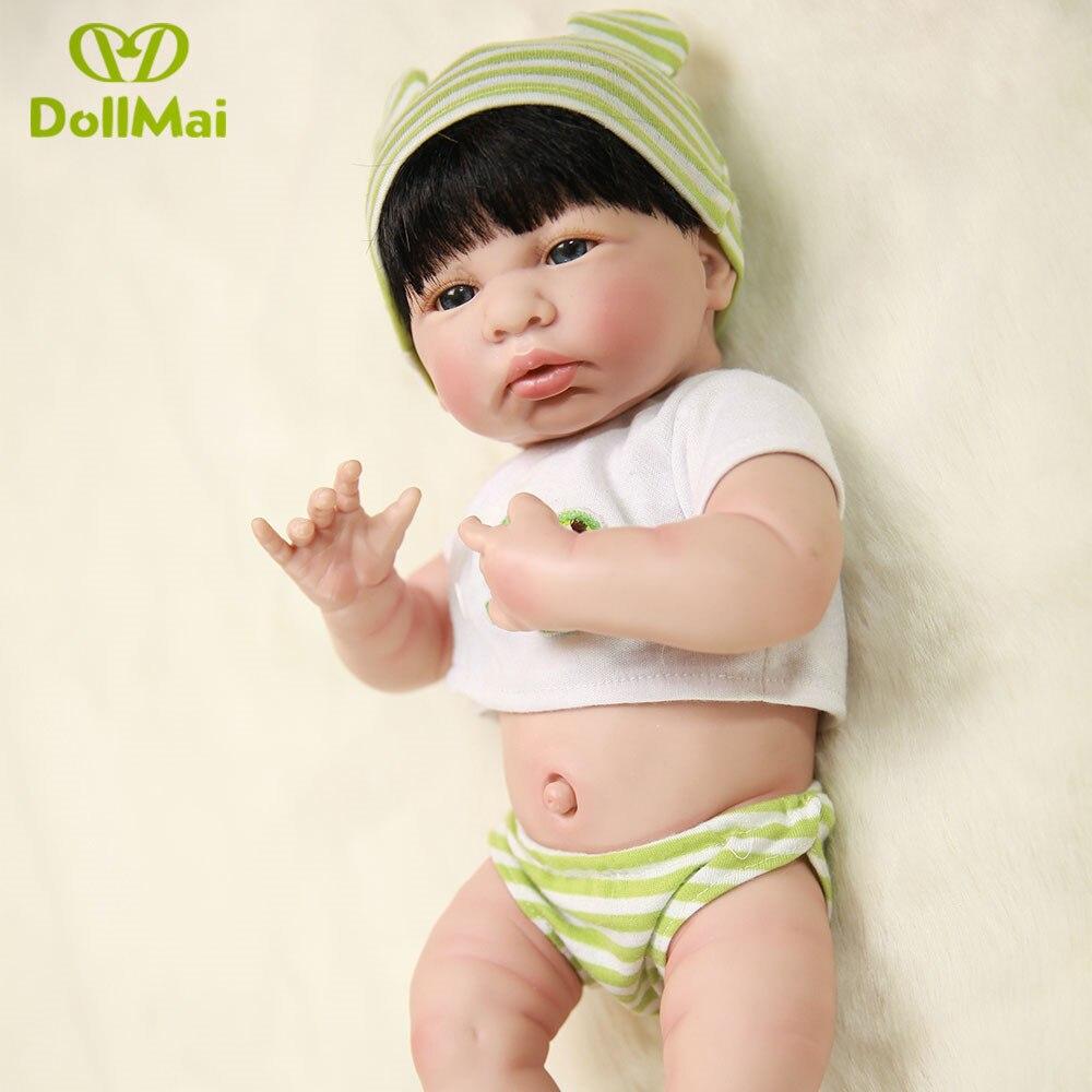 35 cm de silicona vinilo renacido bebés muñecas bebe vivo realista hecha a mano metoo chupete + ropa vivid los niños mejor regalo