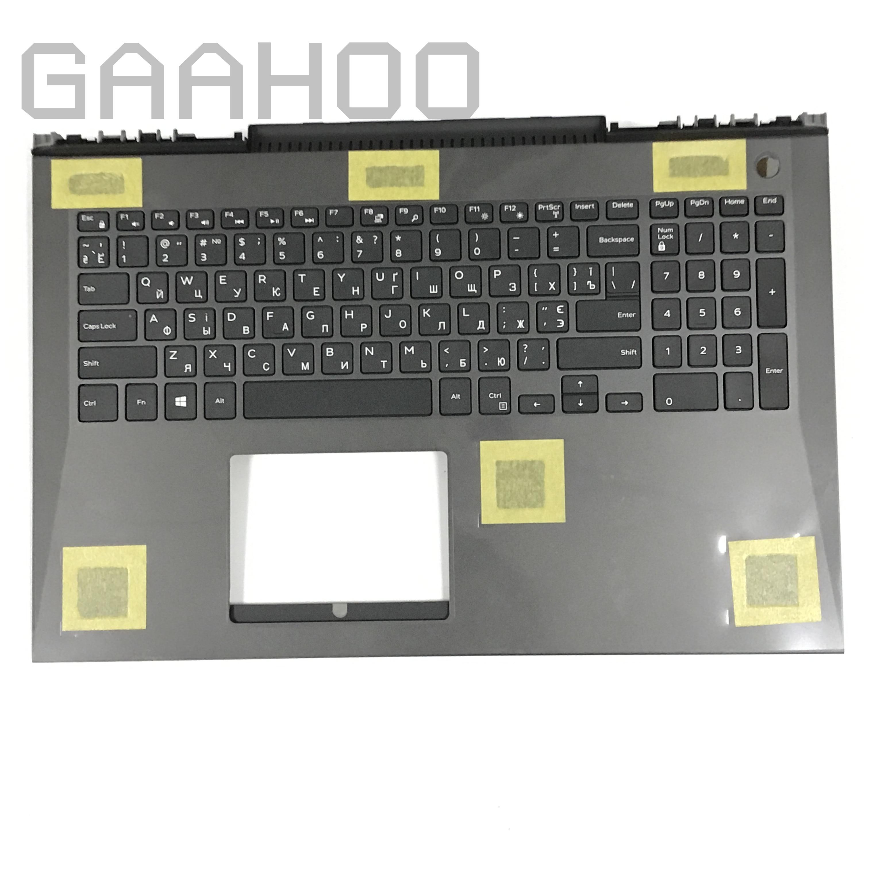 Marca nueva original ordenador portátil RU teclado ruso para DELL INSPIRON15-7000 7577 7587 G7 palmrest Asamblea/w. Teclado