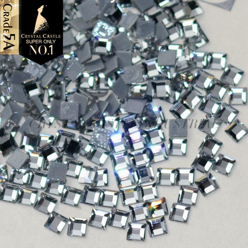 Cristal Castillo piedras y cristales para artesanías Top claro blanco Strass Hotfix diamantes de imitación adhesivos para zapatos brillantes