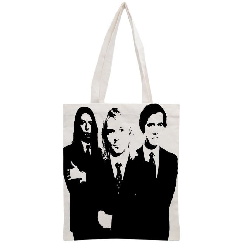 Custom Nirvana Tote Bag Reusable Handbag Women Shoulder Foldable Canvas Shopping Bags Customize your image