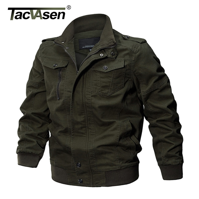 TACVASEN Military Jacket Men Winter Airsoft Jacket Coat Men Army Pilot Jacket Air Force Autumn Casual Cargo Jaqueta Workout Coat