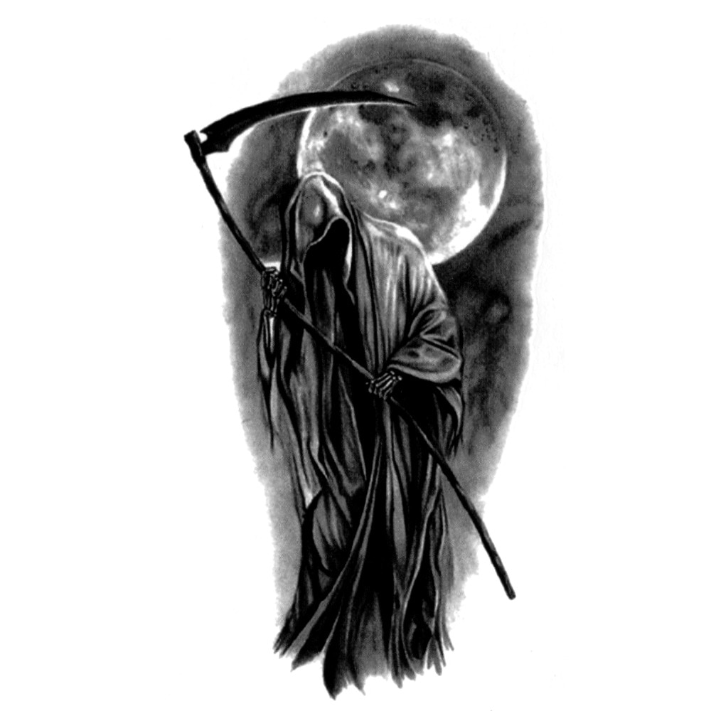 30 pcs Morte Soul Reaper À Prova D Água Etiqueta Do Tatuagem Temporária Tatuagem Falsa A Tlash Olá Kitty Tatoo Tatouagem Festival