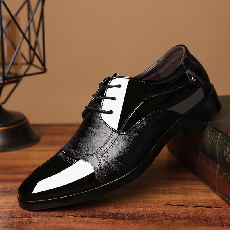 REETENE 2018 chaussures formelles hommes bout pointu hommes chaussures habillées en cuir hommes Oxford chaussures formelles pour hommes chaussures habillées de mode 38-48
