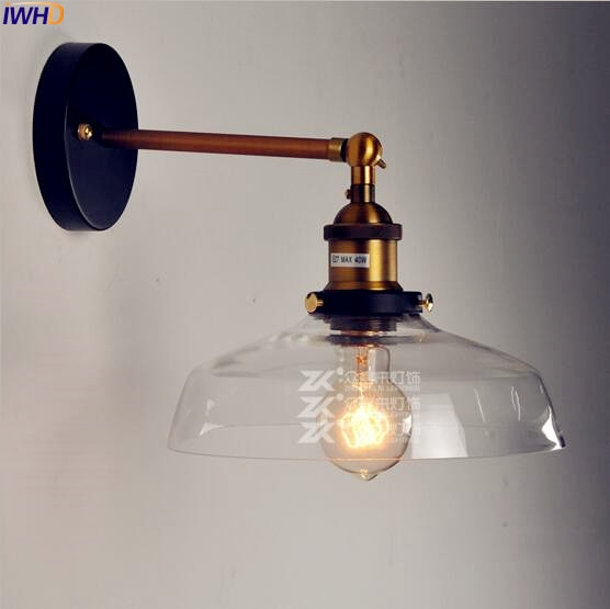 iwhd iron rocker arm wall lamp industrial led wall light rh vintage loft wandlamp e27 2 fixtures bedroom light home lighting IWHD Antique Loft Vintage Wall Lamp Wandlamp Home Lighting Edison Retro Industrial Wall Sconce LED Stair light Lampara Pared
