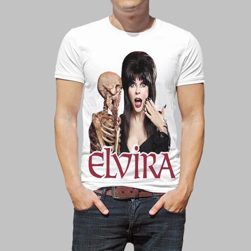 Elvira Mistress of the Dark V41 movie poster white T Shirt Size   Cool Casual pride t shirt men Unisex Fashion tshirt