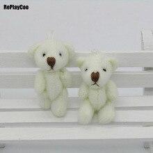 100 pcs/lot Kawaii petits ours en peluche articulés peluche 3.5 CM jouet Teddy-Bear Mini ours Ted Bears jouets en peluche cadeaux de mariage 01301