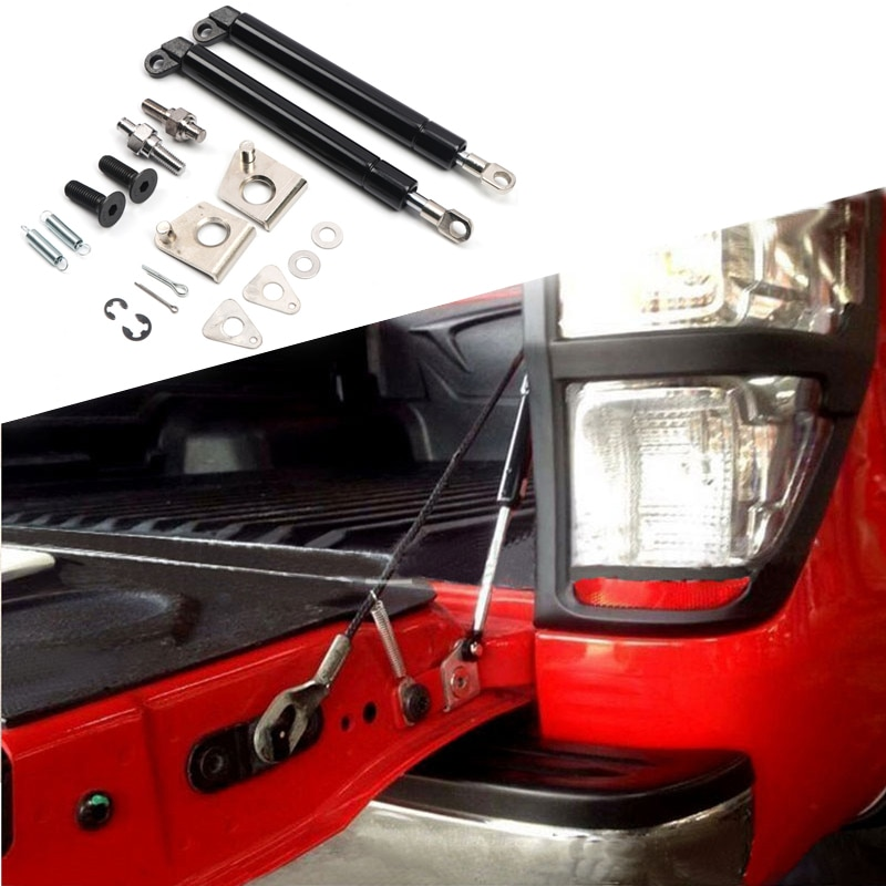 Car Rear Cargo Trunk Lift Support Shock Strut Rod Telescopic Rod 2pcs for Ford Ranger/Mazda BT50 2012 2013 2014 2015 2016