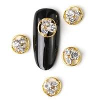 2019 new 10 pieces crystal bright pearl nail rhinestone alloy nail art decorations glitter diy 3d cje nail jewelry pendant
